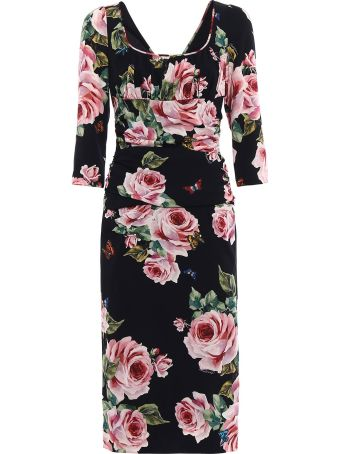 Dolce & Gabbana Elbow Lenght Sleeves Dress