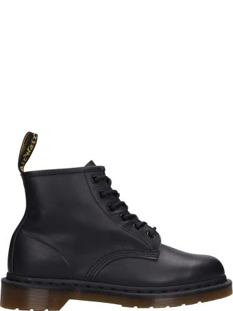Dr. Martens Black Leather Combat Boots