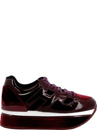 Hogan Burgundy Patent Leather/velvet Sneakers