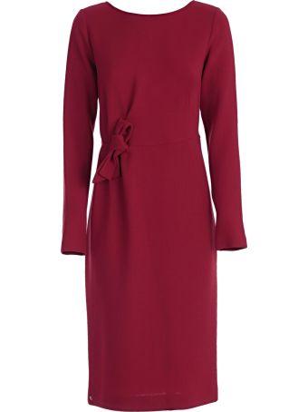 P.a.r.o.s.h. Tie Waist Long Sleeve Dress