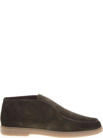 Santoni Suede Green Desert Boots