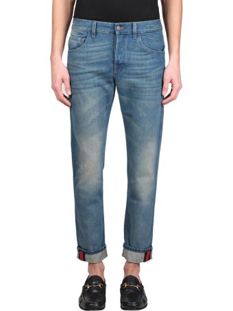 Gucci Web Cotton Denim Jeans