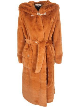 Golden Goose Oversized Hooded Fur Coat