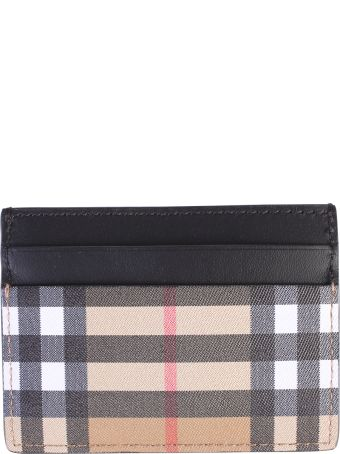 Burberry Multicolored Checked Card Holder