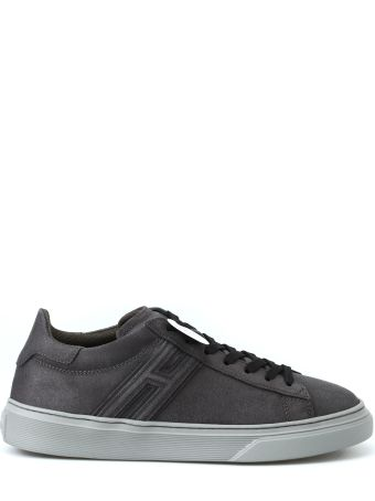 Hogan H365 Elongated H Leather Grey Sneakers