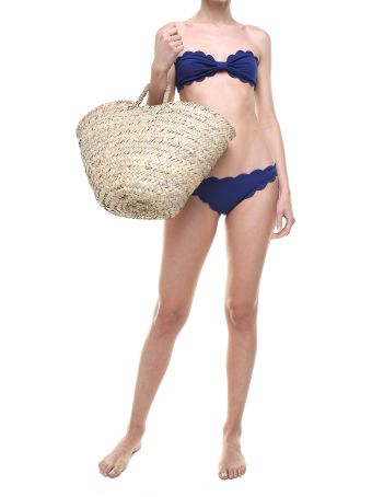 Marysia Swim Antibes Scalloped-edges Bandeau Bikini Top