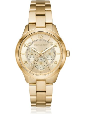 Michael Kors Runway Gold Tone Multi-function Watch