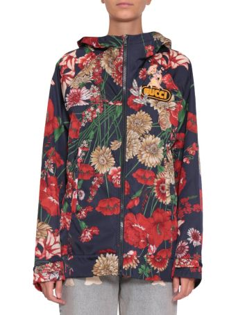 Gucci Floral Print Nylon Windbreakers