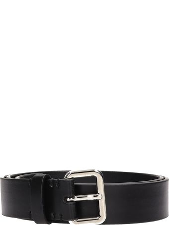 Neil Barrett Black Leather Belt