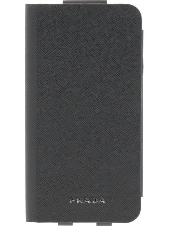 Prada Cover For Men I-phone X Book Cover With Card Holder