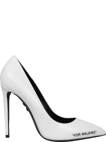 Off-White Leather Pumps