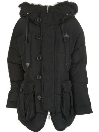 Dsquared2 Fur Hood Oversized Down Jacket