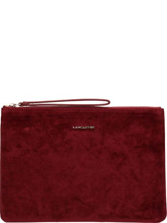 Lancaster Paris Burgundy Velvet Large Clutch