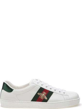 Gucci Bee Embroidered Sneakers