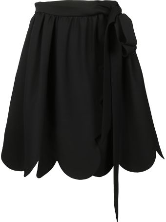 Valentino Scalloped Trim Skirt