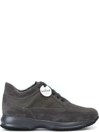 Hogan Suede Technical Fabric Dark Grey Interactive