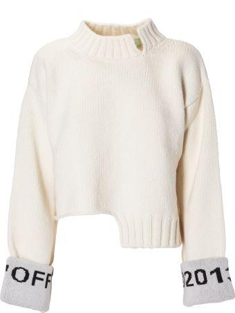 Off-White Logo Cuff Sweater