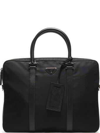 Prada Classic Logo Brief Case