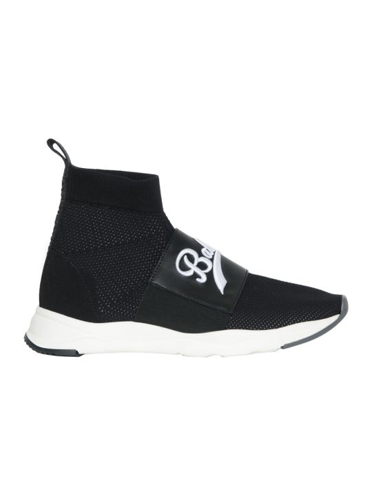 Balmain Stretch Knit Cameron High-top Sneakers