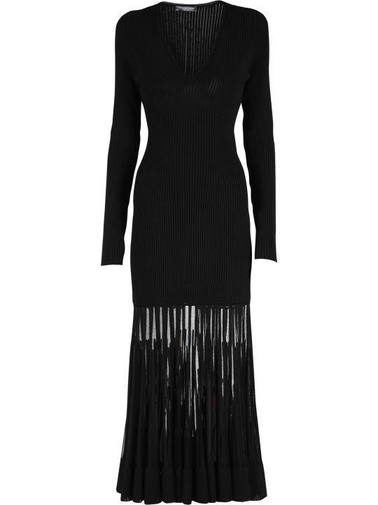 Alexander McQueen Silk And Viscose Blend Dress