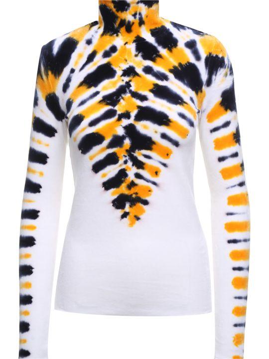 Proenza Schouler Tie-dye Velvet-jersey Turtleneck Top