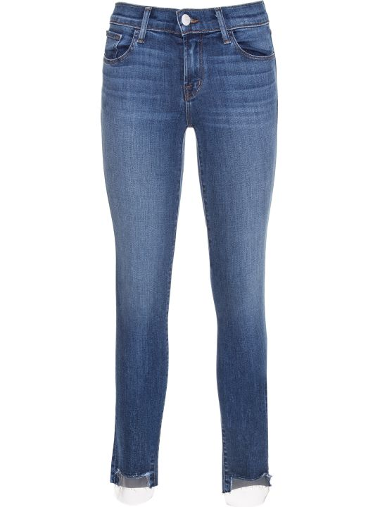 J Brand Mesh Detail Skinny Jeans