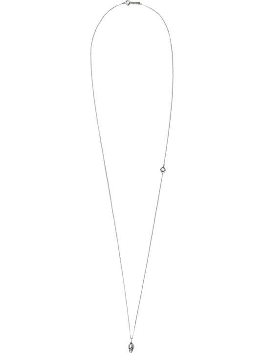 Ugo Cacciatori Tiny Skull Silver Necklace