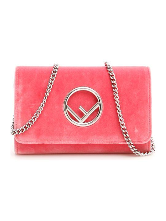 Fendi Velvet F Logo Minibag