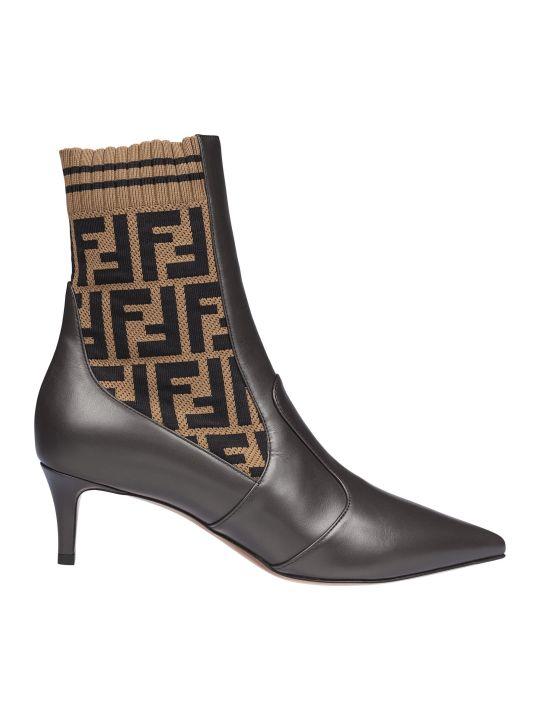 Fendi Ff Motif Ankle Boots