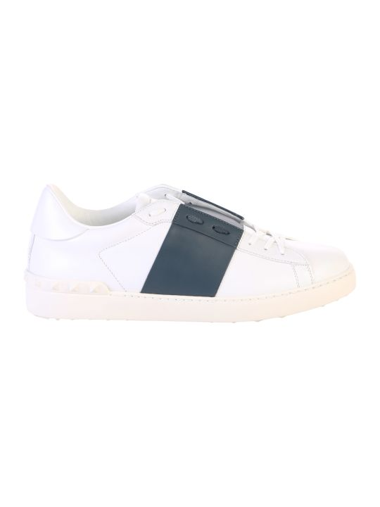 Valentino Garavani White Striped Sneakers