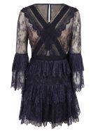 self-portrait Ruffled Lace Mini Dress