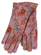 Restelli Nappa Leather Gloves With Floral Prints