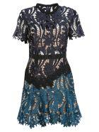 Self Portrait Prairie Sheer Lace Dress