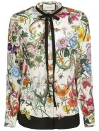 Gucci Floral Snake Print Shirt