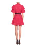 self-portrait Broderie Anglaise Stripe Dress