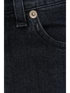 Saint Laurent Skinny 5 Pocket Mid Waist - BLACK GREY