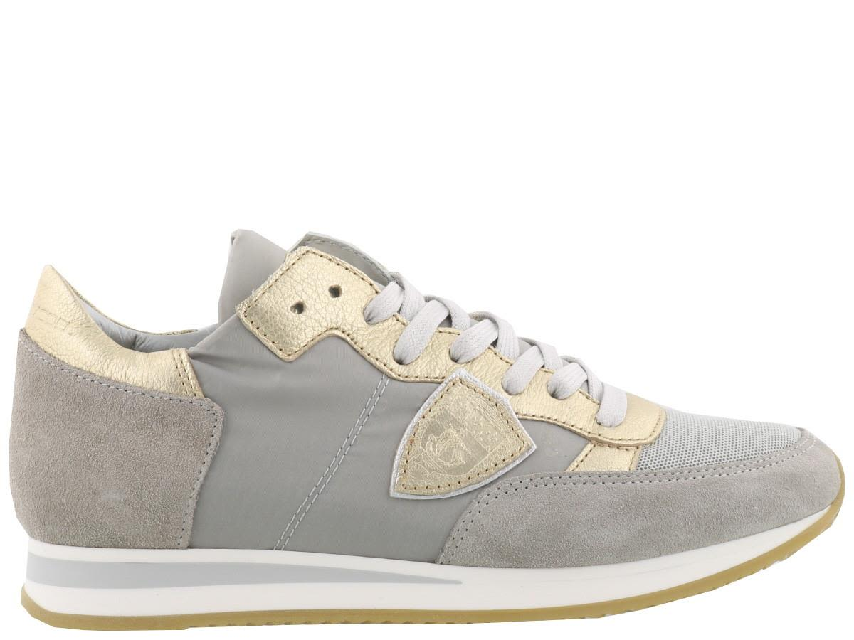 Designers Philippe Model Tropez Sneaker Gris/Platinum For Women Sale Online