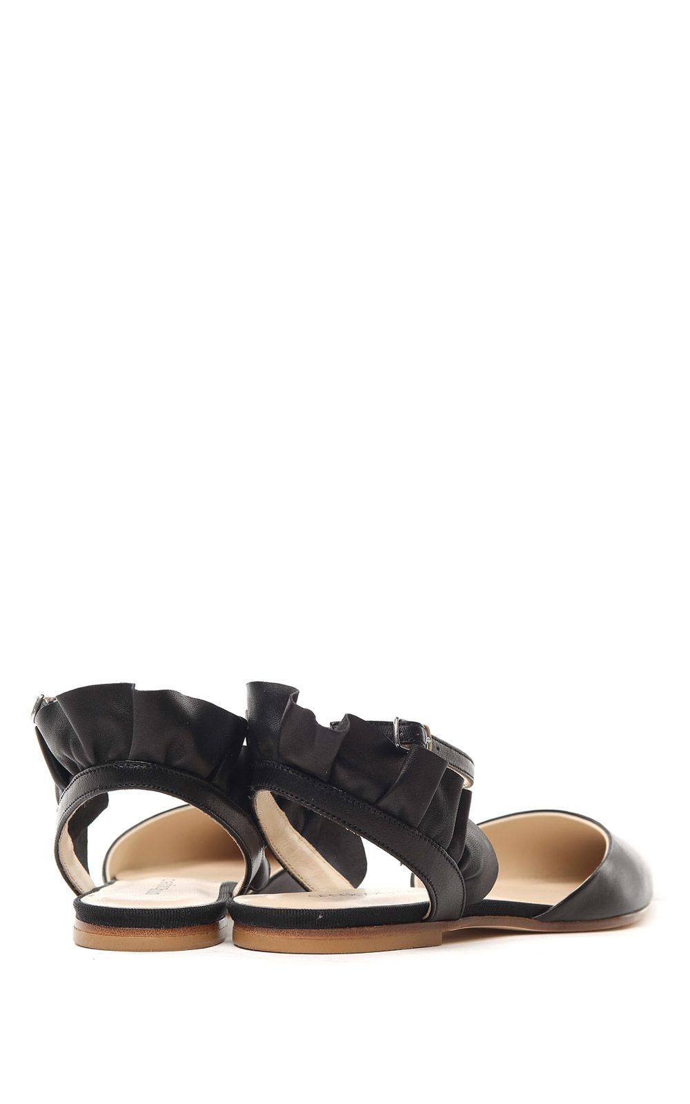 Malika uched leather ballet flats Anna Baiguera vd5Qt