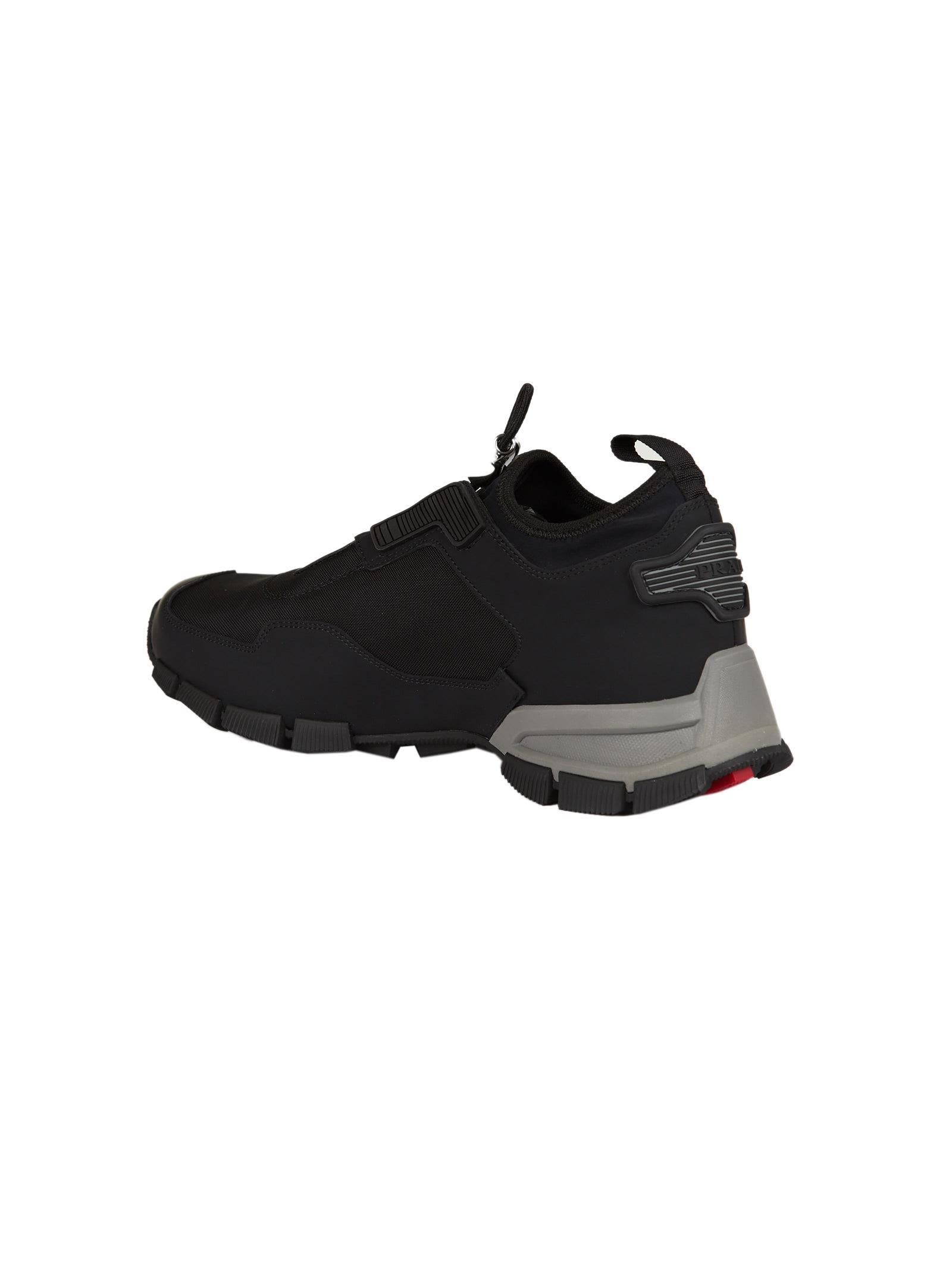 Trail concealed lace-up sneakers - Black Prada 68D9bG