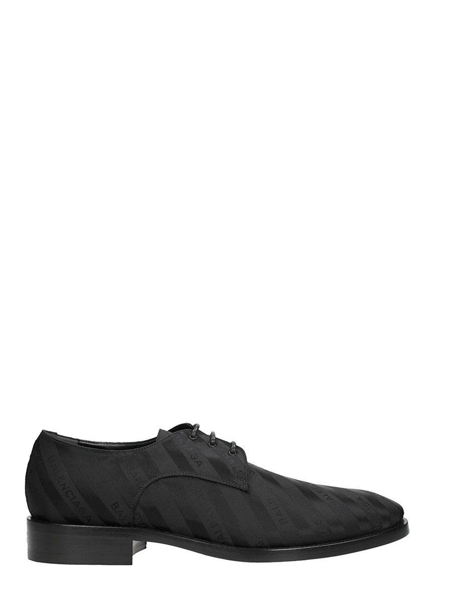 BALENCIAGA BLACK SATIN LACE UP