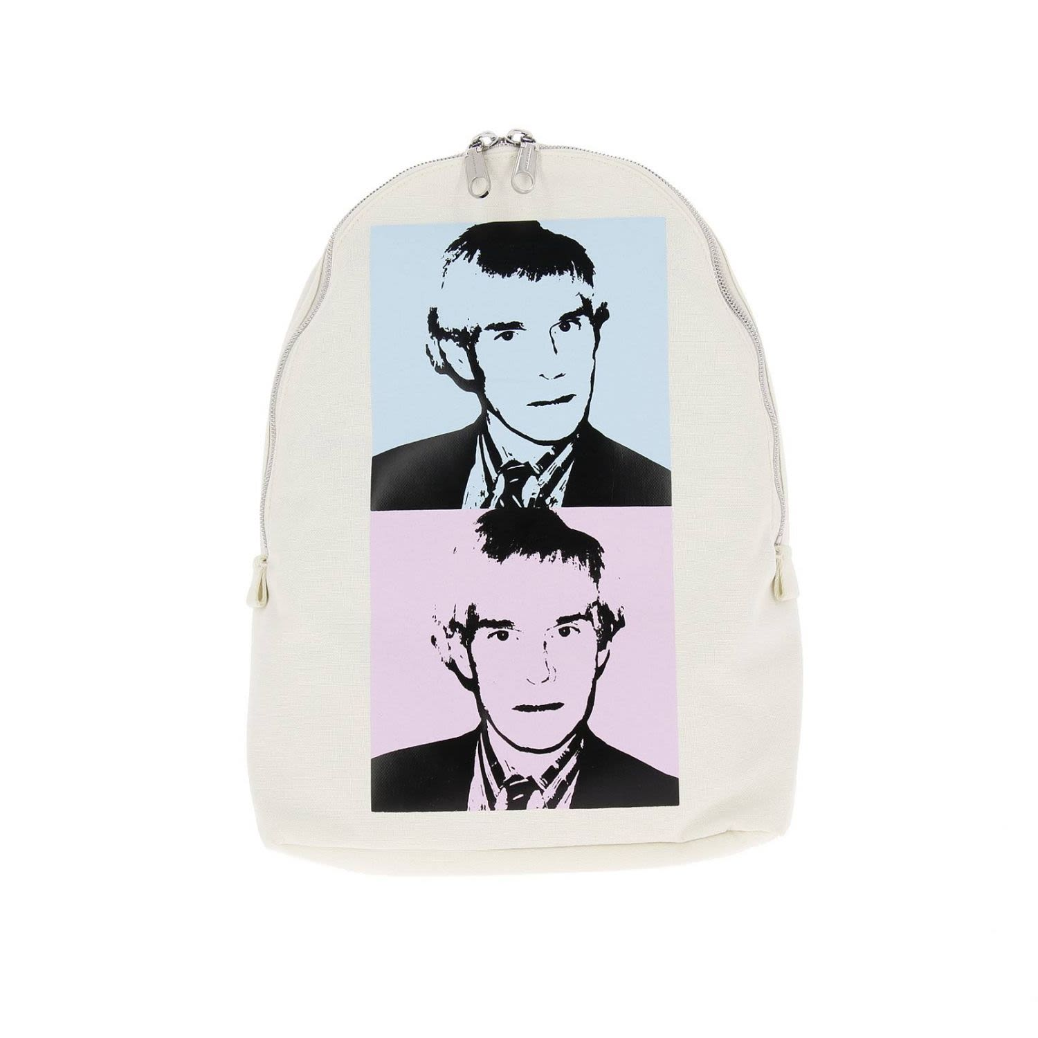 Backpack Shoulder Bag Women Ckj Warhol Self-Portrait, White