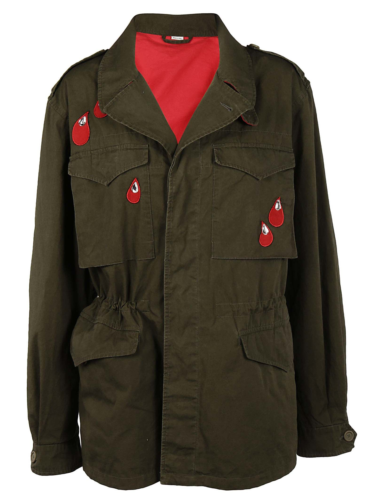 22ba1cd6aa24 Gucci Patch Coated Cotton Canvas Field Jacket In Green | ModeSens