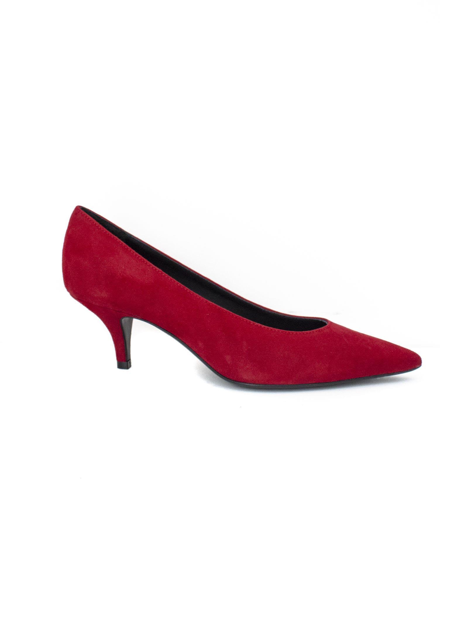 ROBERTO FESTA Claude Dècolletè In Red Leather. in Rosso