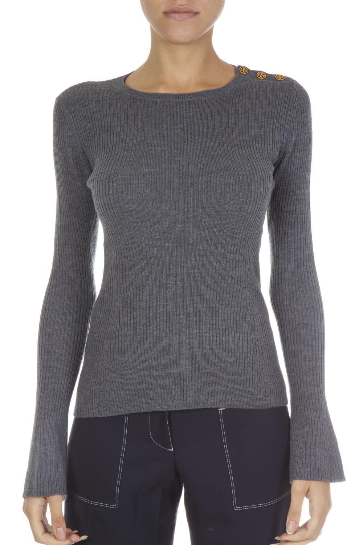 Tory Burch Grey Wool Sweater