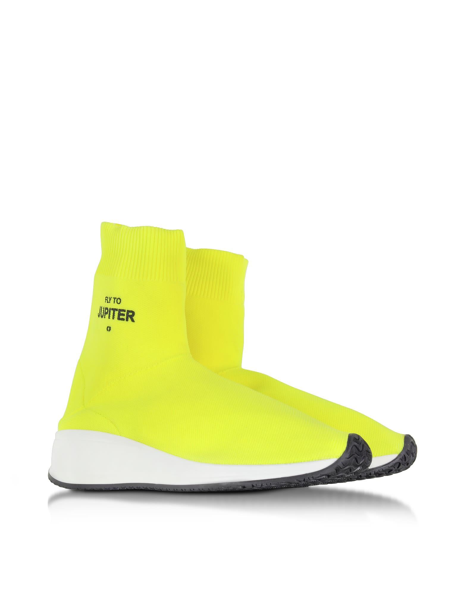 JOSHUA SANDERS Fly To Jupiter Neon Nylon Sock Sneakers Low Shipping Sale Online t5RQ8W