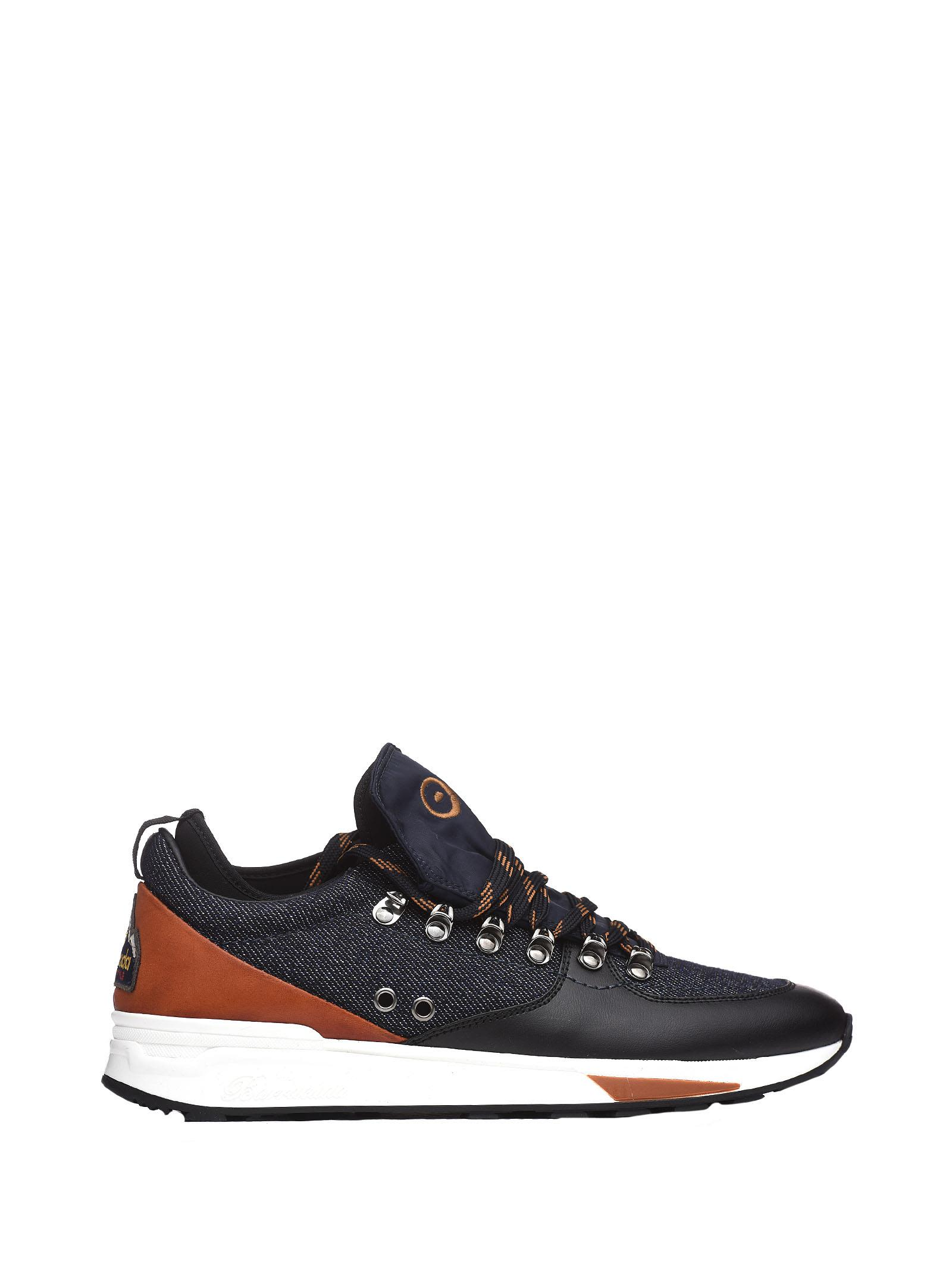 BARRACUDA Blue Sneakers With Hook in Blu Cuoio