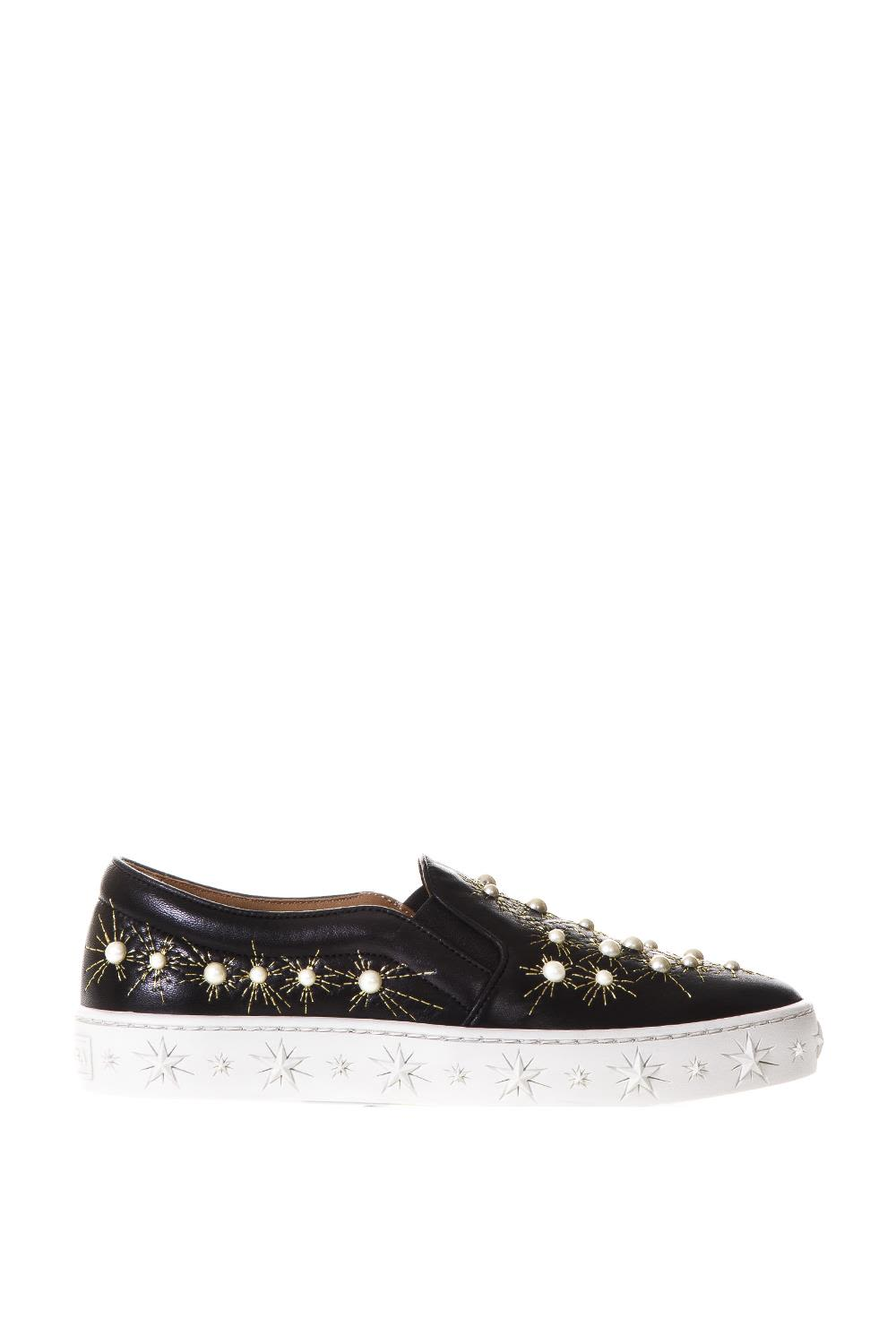 Cosmic Pearls leather slip-on sneakers Aquazzura Get To Buy Online High Quality Stockist Online Eastbay Cheap Price Discount Extremely 2LSBaCk5lc