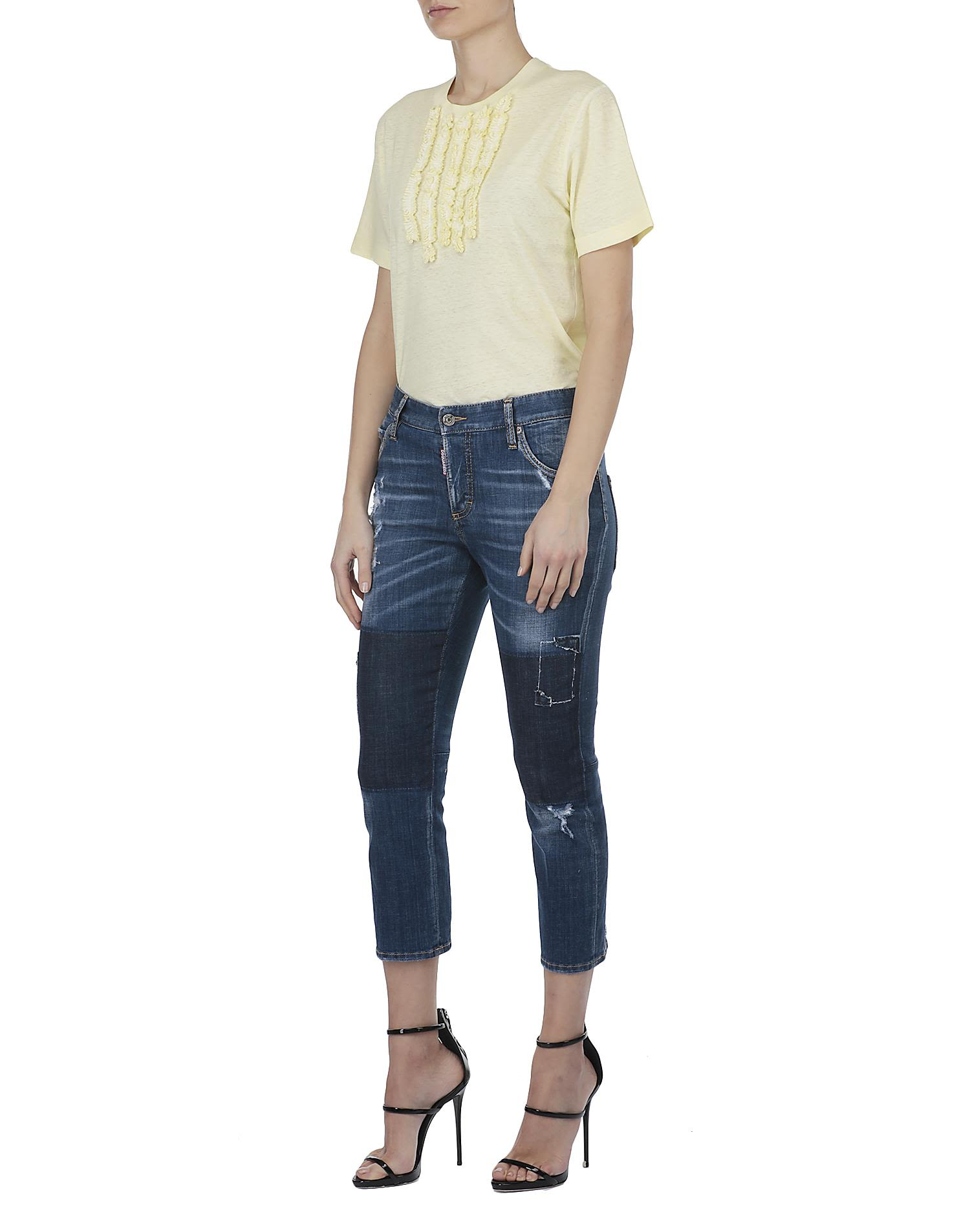 Dsquared2 Slouch Cropped jeans Clearance Best Sale Clearance Manchester rEp98ZxK4t