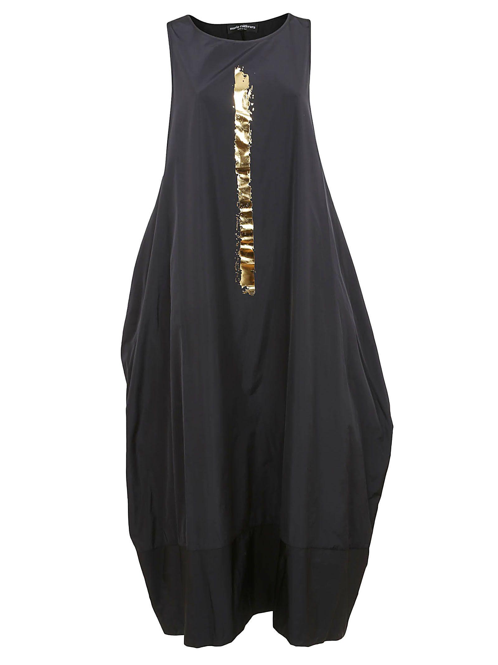 MARIA CALDERARA Taffeta Dress in Black