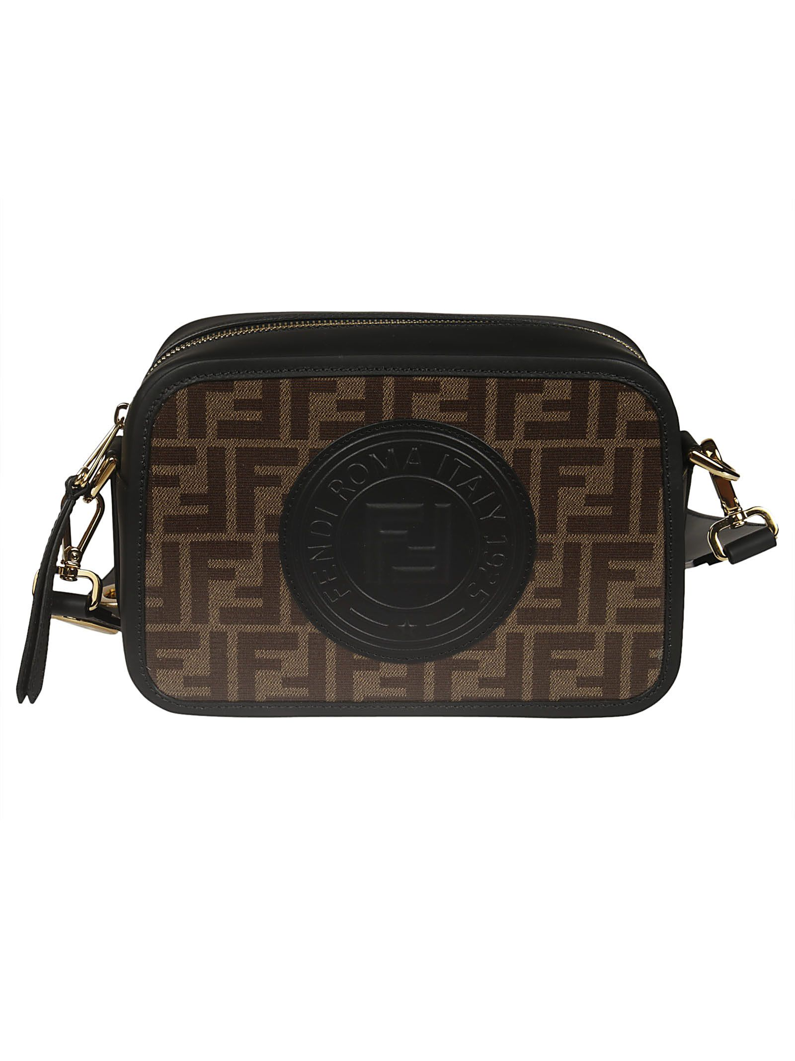 3c483f6d424 Fendi Ff Logo Shoulder Bag In Mog.Pan+Nr+Os   ModeSens